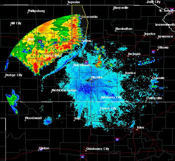 Radar Image for Severe Thunderstorms near Lorraine, KS at 7/2/2020 11:13 PM CDT