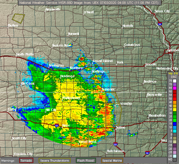 Radar Image for Severe Thunderstorms near Miltonvale, KS at 7/2/2020 11:15 PM CDT