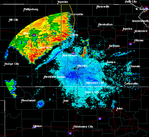 Radar Image for Severe Thunderstorms near Brookville, KS at 7/2/2020 11:22 PM CDT