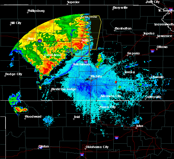 Radar Image for Severe Thunderstorms near Brookville, KS at 7/2/2020 11:44 PM CDT