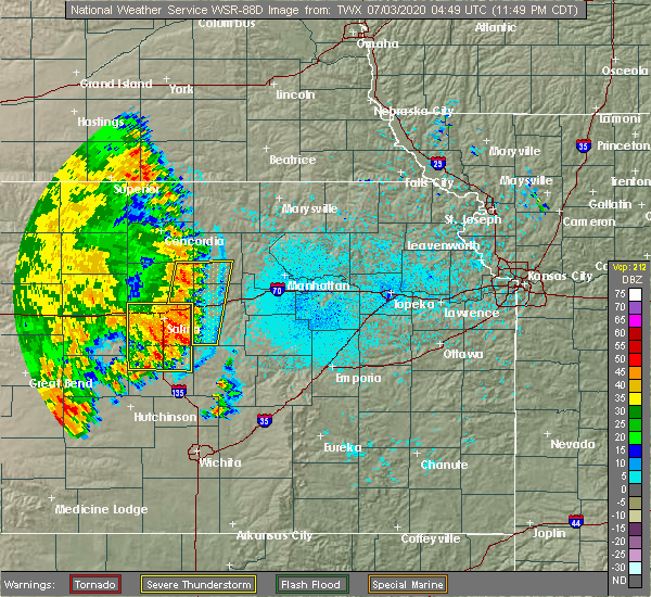 Radar Image for Severe Thunderstorms near Manchester, KS at 7/2/2020 11:55 PM CDT