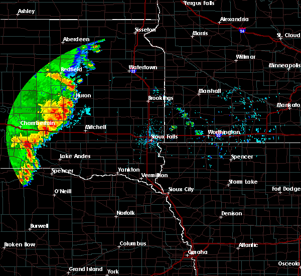 Radar Image for Severe Thunderstorms near St. Charles, SD at 7/3/2020 12:31 AM CDT