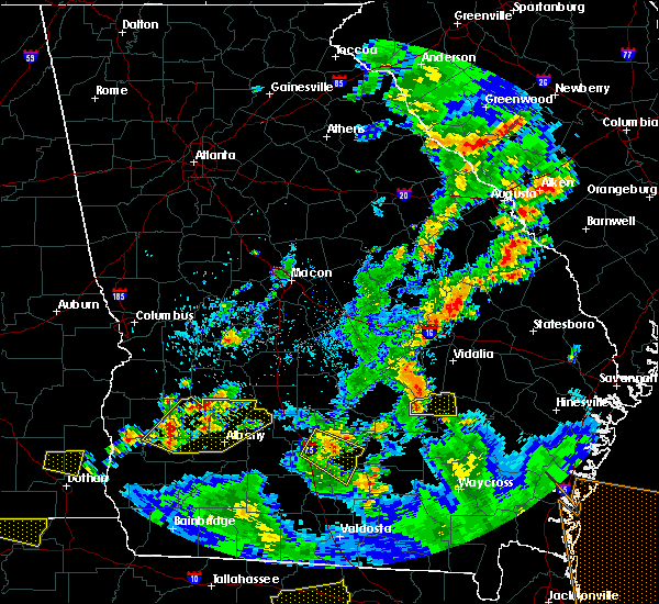 Radar Image for Severe Thunderstorms near Baxley, GA at 6/30/2015 3:44 PM EDT