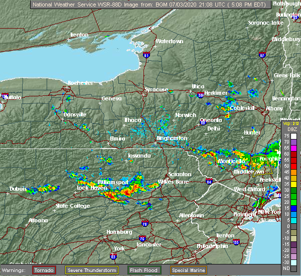 Radar Image for Severe Thunderstorms near Almedia, PA at 7/3/2020 5:12 PM EDT