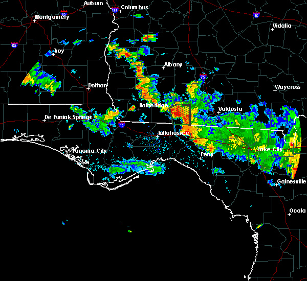 Radar Image for Severe Thunderstorms near Thomasville, GA at 7/3/2020 5:45 PM EDT
