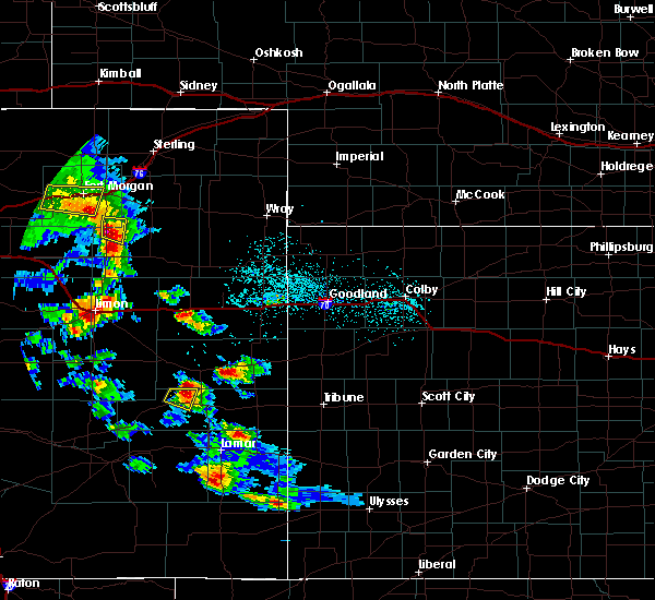 Radar Image for Severe Thunderstorms near Cheyenne Wells, CO at 7/3/2020 5:46 PM MDT