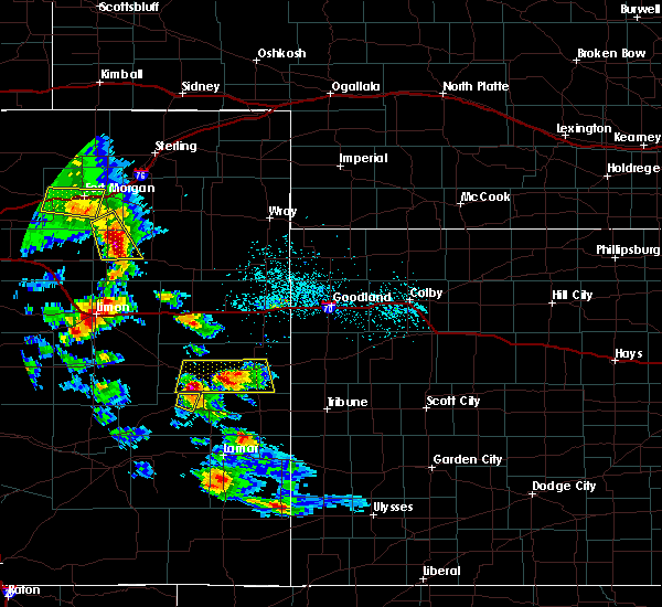 Radar Image for Severe Thunderstorms near Cheyenne Wells, CO at 7/3/2020 5:54 PM MDT