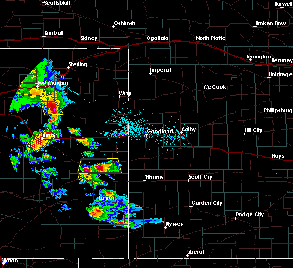 Radar Image for Severe Thunderstorms near Cheyenne Wells, CO at 7/3/2020 5:59 PM MDT