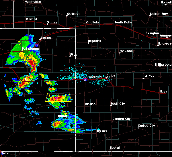 Radar Image for Severe Thunderstorms near Cheyenne Wells, CO at 7/3/2020 6:05 PM MDT