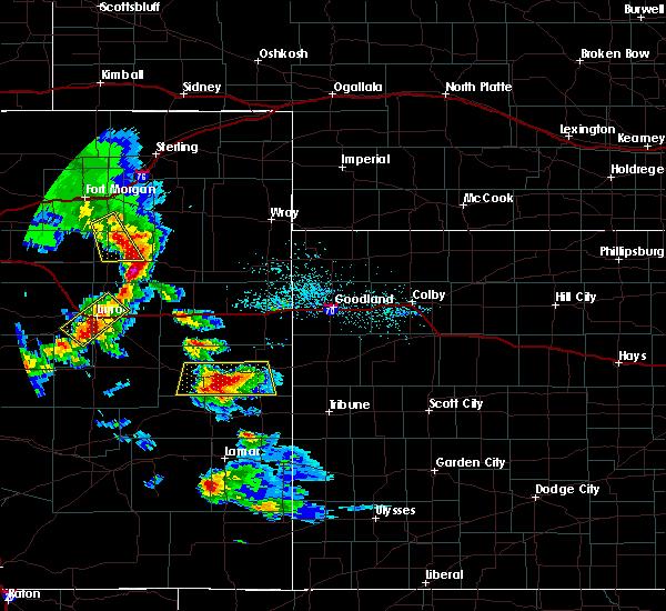 Radar Image for Severe Thunderstorms near Kit Carson, CO at 7/3/2020 6:14 PM MDT