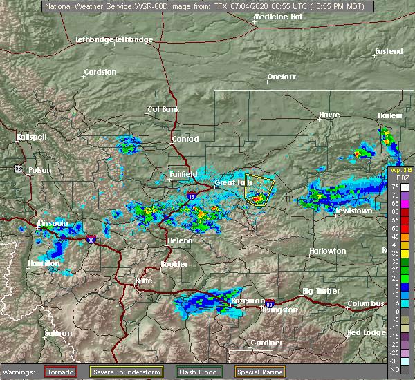 Radar Image for Severe Thunderstorms near Geyser, MT at 7/3/2020 6:57 PM MDT