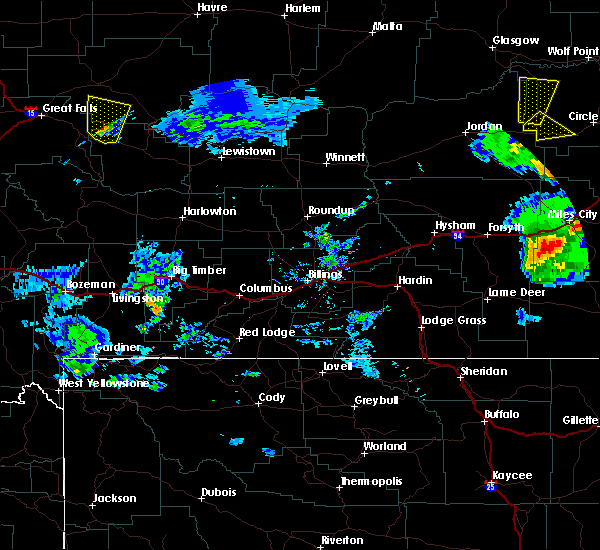 Radar Image for Severe Thunderstorms near Miles City, MT at 7/3/2020 7:02 PM MDT
