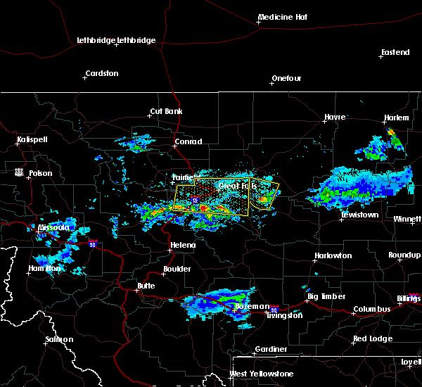 Radar Image for Severe Thunderstorms near Stockett, MT at 7/3/2020 7:10 PM MDT