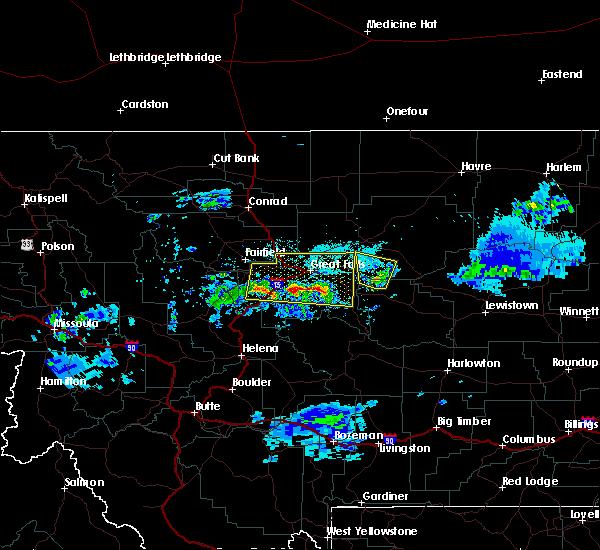 Radar Image for Severe Thunderstorms near Stockett, MT at 7/3/2020 7:26 PM MDT