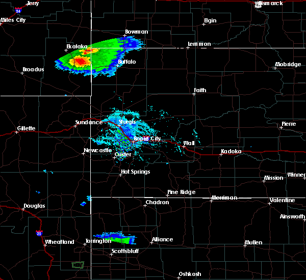 Radar Image for Severe Thunderstorms near Buffalo, SD at 7/3/2020 7:26 PM MDT