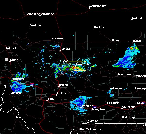 Radar Image for Severe Thunderstorms near Stockett, MT at 7/3/2020 7:41 PM MDT