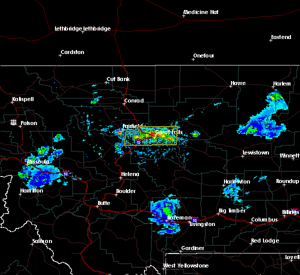 Radar Image for Severe Thunderstorms near Stockett, MT at 7/3/2020 7:58 PM MDT