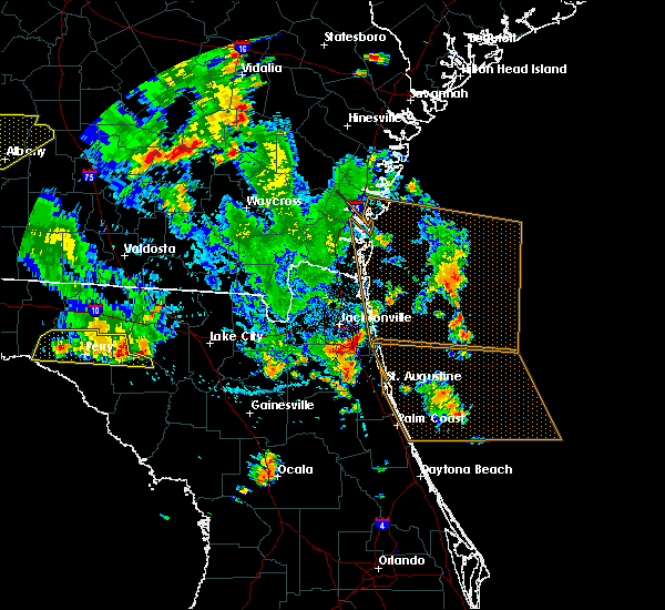 Radar Image for Severe Thunderstorms near Palm Valley, FL at 6/30/2015 4:04 PM EDT