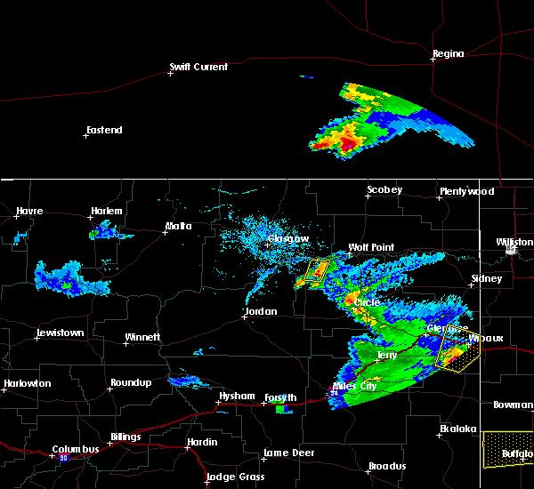Radar Image for Severe Thunderstorms near Wibaux, MT at 7/3/2020 8:14 PM MDT