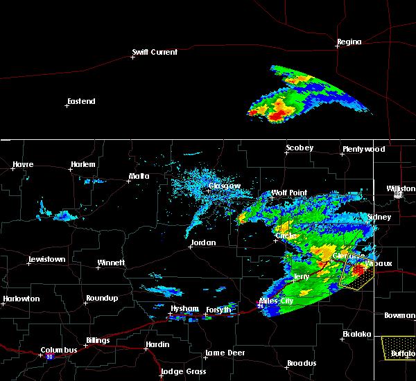 Radar Image for Severe Thunderstorms near Wibaux, MT at 7/3/2020 8:32 PM MDT