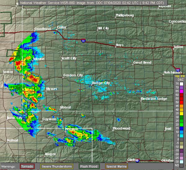 Radar Image for Severe Thunderstorms near Syracuse, KS at 7/3/2020 8:45 PM MDT
