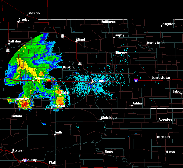 Radar Image for Severe Thunderstorms near Bucyrus, ND at 7/3/2020 10:54 PM MDT