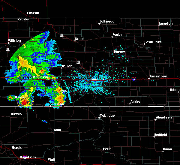 Radar Image for Severe Thunderstorms near Bucyrus, ND at 7/3/2020 11:03 PM MDT