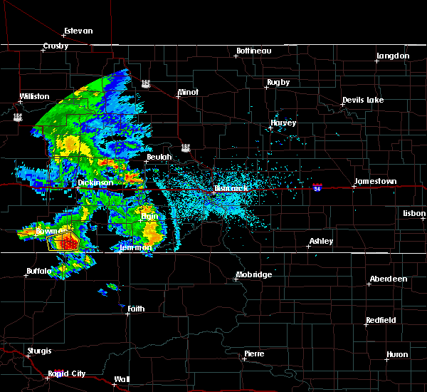 Radar Image for Severe Thunderstorms near Bucyrus, ND at 7/3/2020 11:16 PM MDT
