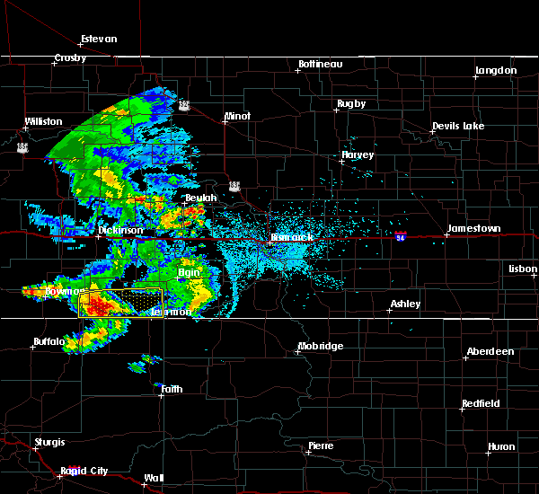 Radar Image for Severe Thunderstorms near Bucyrus, ND at 7/3/2020 11:22 PM MDT