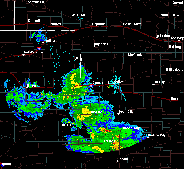 Radar Image for Severe Thunderstorms near Cheyenne Wells, CO at 7/3/2020 11:39 PM MDT