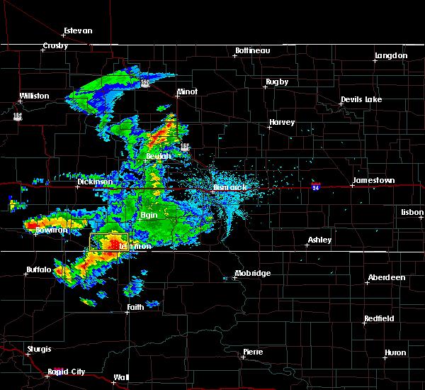 Radar Image for Severe Thunderstorms near Haynes, ND at 7/4/2020 12:13 AM MDT