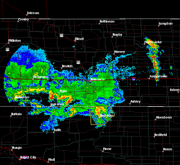 Radar Image for Severe Thunderstorms near Mound City, SD at 7/4/2020 4:54 AM CDT