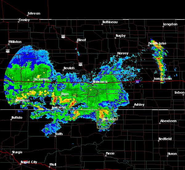 Radar Image for Severe Thunderstorms near Mound City, SD at 7/4/2020 5:04 AM CDT