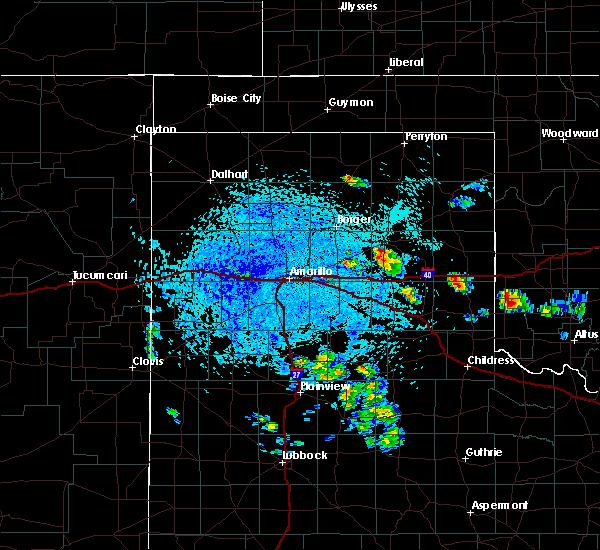 Radar Image for Severe Thunderstorms near White Deer, TX at 7/4/2020 3:19 PM CDT