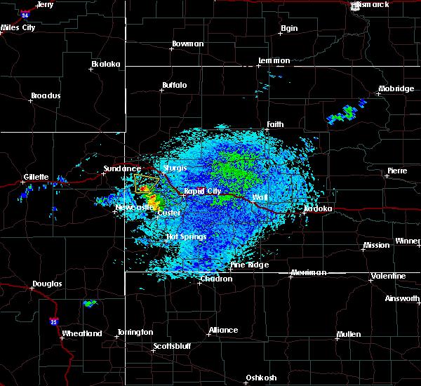 Radar Image for Severe Thunderstorms near Deadwood, SD at 7/4/2020 2:23 PM MDT
