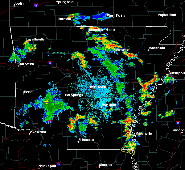 Radar Image for Severe Thunderstorms near Watson, AR at 7/4/2020 3:27 PM CDT