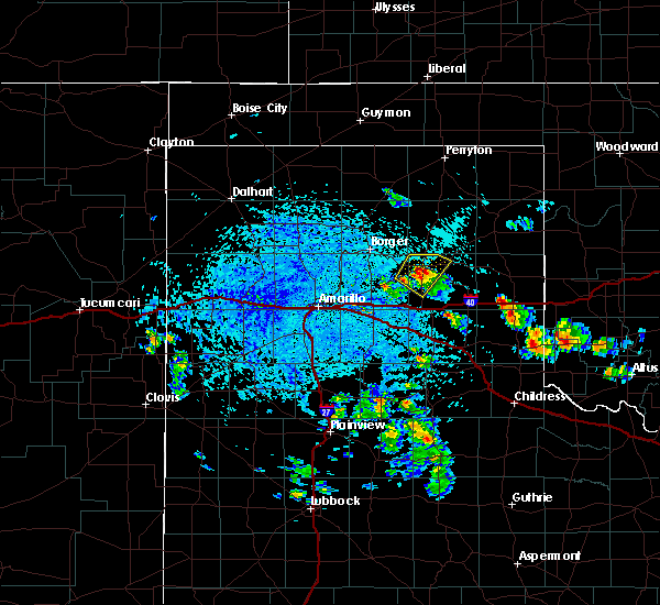 Radar Image for Severe Thunderstorms near White Deer, TX at 7/4/2020 3:40 PM CDT