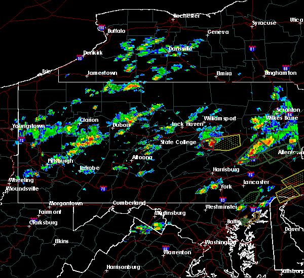 Radar Image for Severe Thunderstorms near Danville, PA at 6/30/2015 4:08 PM EDT