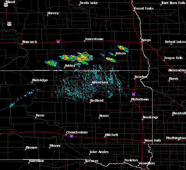 Radar Image for Severe Thunderstorms near Edgeley, ND at 7/4/2020 4:10 PM CDT