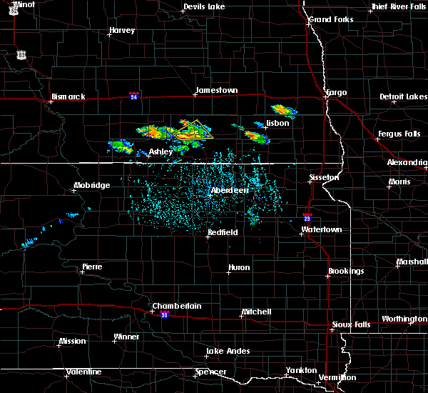 Radar Image for Severe Thunderstorms near Edgeley, ND at 7/4/2020 4:23 PM CDT