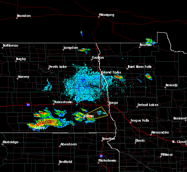 Radar Image for Severe Thunderstorms near Kindred, ND at 7/4/2020 5:11 PM CDT