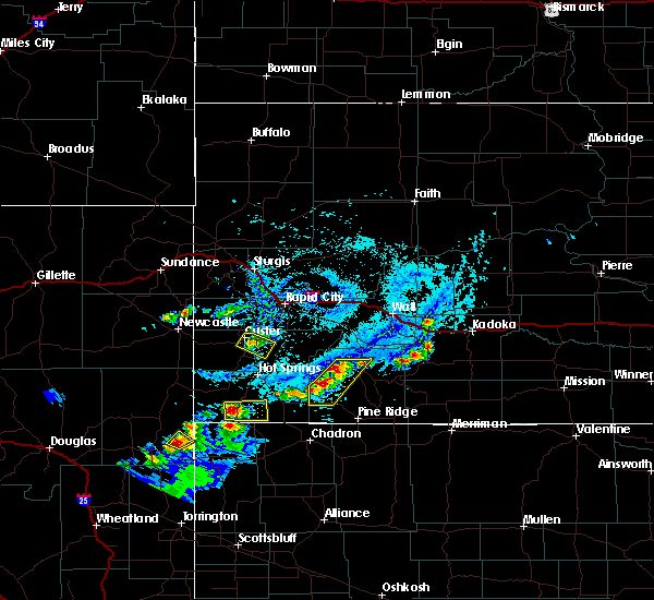 Radar Image for Severe Thunderstorms near Custer, SD at 7/4/2020 4:44 PM MDT