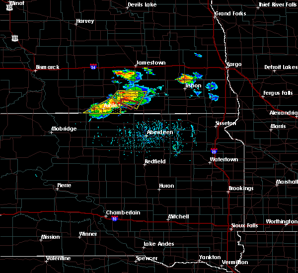 Radar Image for Severe Thunderstorms near Edgeley, ND at 7/4/2020 5:49 PM CDT