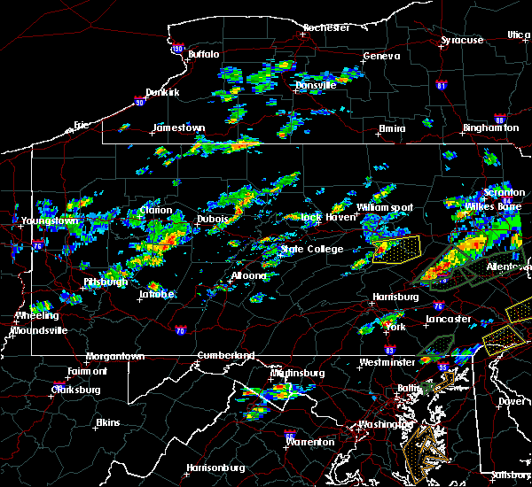 Radar Image for Severe Thunderstorms near Hometown, PA at 6/30/2015 4:27 PM EDT