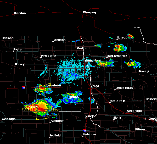 Radar Image for Severe Thunderstorms near Jamestown, ND at 7/4/2020 6:30 PM CDT