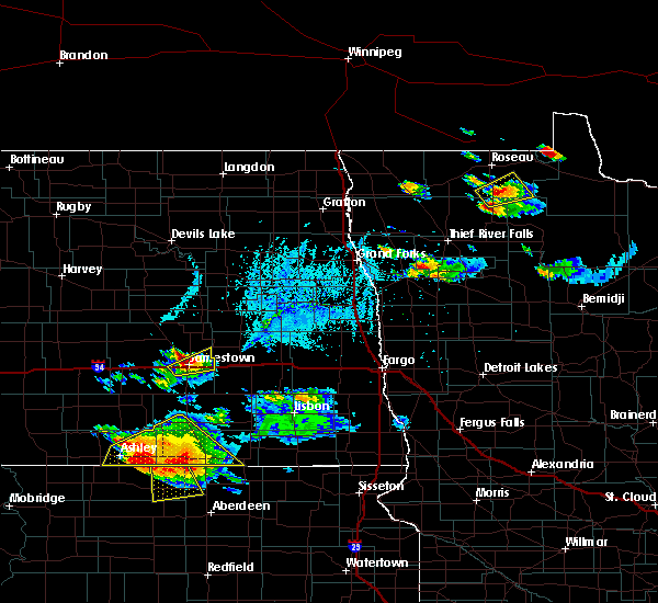 Radar Image for Severe Thunderstorms near Jamestown, ND at 7/4/2020 6:44 PM CDT