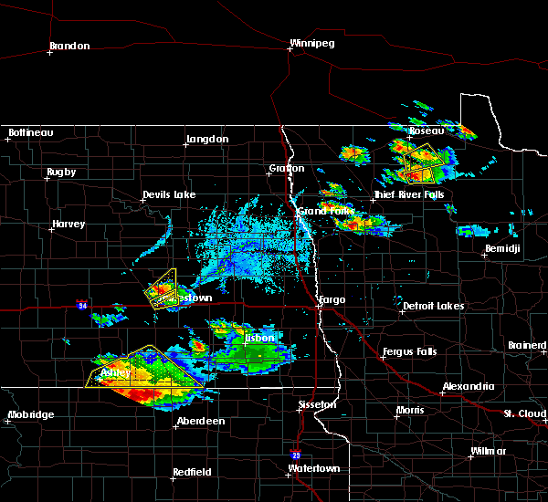 Radar Image for Severe Thunderstorms near Spiritwood Lake, ND at 7/4/2020 7:05 PM CDT
