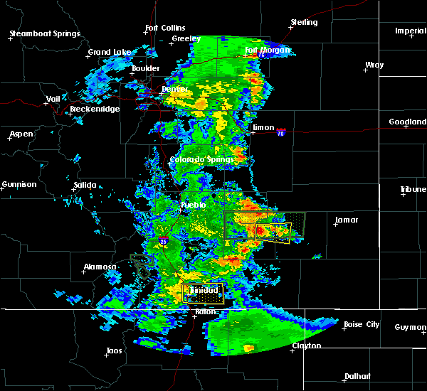 Radar Image for Severe Thunderstorms near North La Junta, CO at 7/4/2020 6:46 PM MDT