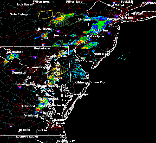 Radar Image for Severe Thunderstorms near Stevensville, MD at 6/30/2015 4:35 PM EDT