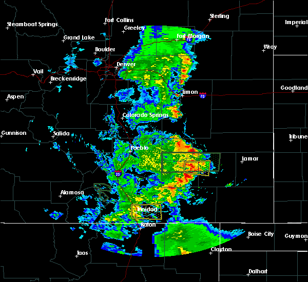 Radar Image for Severe Thunderstorms near North La Junta, CO at 7/4/2020 6:58 PM MDT
